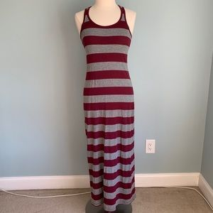 Forever 21 Striped Racerback Maxi Tank Dress